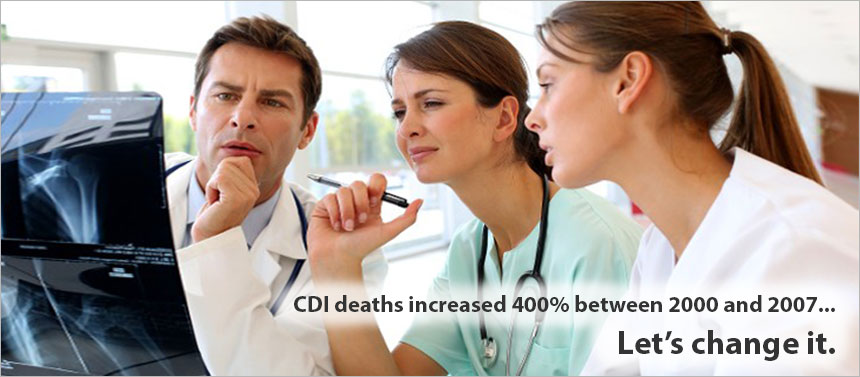 CDI deaths increased 400% between 2000 and 2007... Let's change it.